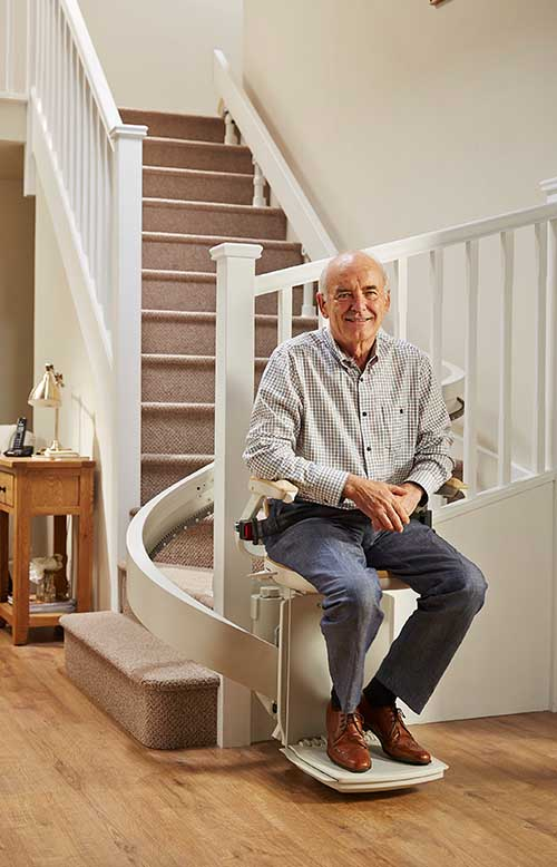Curved Acorn stairlift