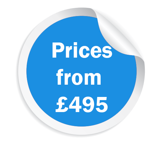 mobility scooter prices from £495 sticker