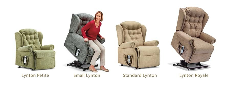 selection of Sherborne rise and recline chairs